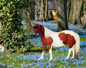 Unicorn in the Garden of the Fairies
