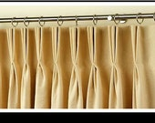Add pleats to your pair (two 50W panels) panels, choose two fingerpleats, triple french pleats, inverted pleats
