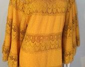 RARE 70s Mexican BOHEMIAN Wedding Maxi Dress by EMPORIUM