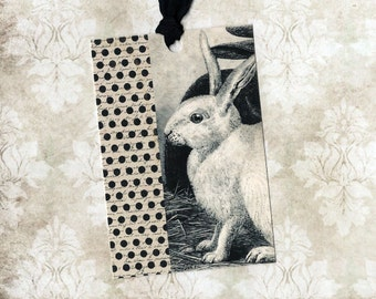 Tags, Rabbit, Vintage Style, Rabbit Tags, Gift Tags