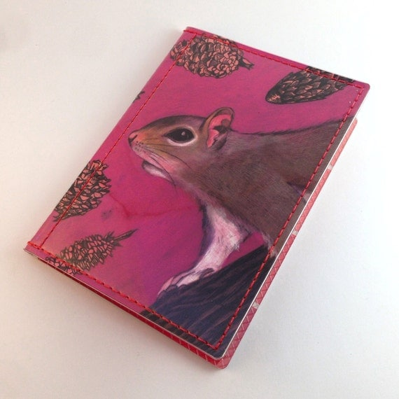 He's a squirrely boy passport cases - Shannon McLaughlin for Tinymeat