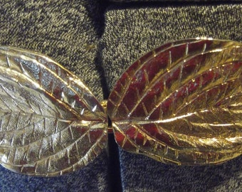 Dotty Smith Gold Leaf Belt Buckle With Caramel Belt