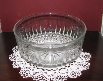 Lovely glass salad bowl, made in France