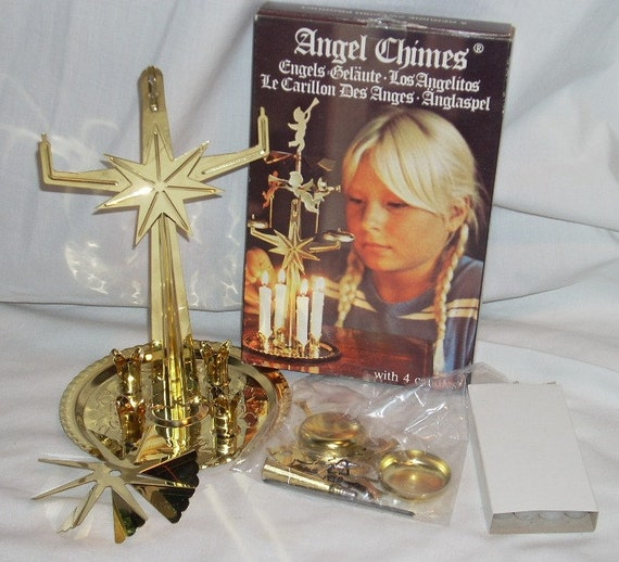 Swedish Angel Chimes Christmas Windmill Candle Holder from