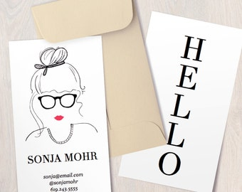 INSTANT DOWNLOAD - Maven - Printable Business Card