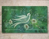 Business Cards - Custom Business Cards - Jewelry Cards - Earring Cards - Display Cards - Vintage Dove - No. 38