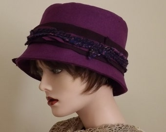 Purple Hat with Brim