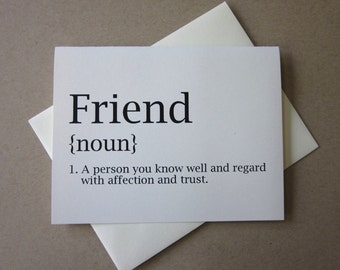 Friend Note Cards Set of 10 with Matching Envelopes
