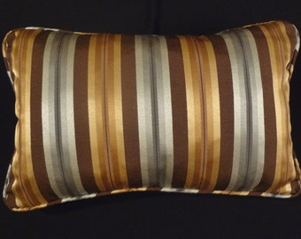 """Pillow Cover 11"""" x 17"""", Includes Piping and Zipper.Use Your Fabric.You Pay for Shipping. Made to Order."""