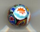 Murano Moretti Millefiori size 7-8mm Venetian Art Glass Beads, MB8.MB8W