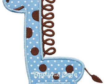 579 Loopy Giraffe Machine Embroidery Applique Design