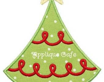 382 Christmas Tree 4 Machine Embroidery Applique Design
