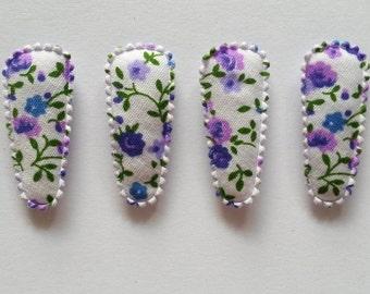 25 pcs -   Purple Florist flower Hair Clip COVERS for toddler - size 35 mm