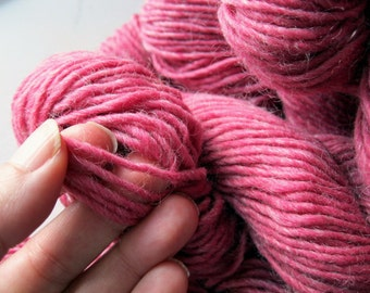 Green Mountain Spinnery, Mountain Mohair, Pink Pink, knitting wool, worsted weight