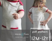 PlayDay Dress PDF pattern and tutorial 12m-12 EASY SEW tunic dress jumper