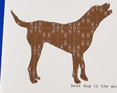 Chessie or Chocolate Lab Boxed Notes