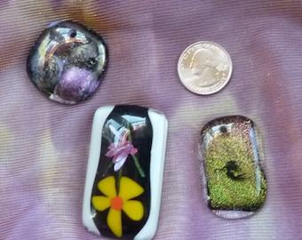 Fused Dichroic Glass, Dichroic Glass, Dichroic Jewelry, supplies