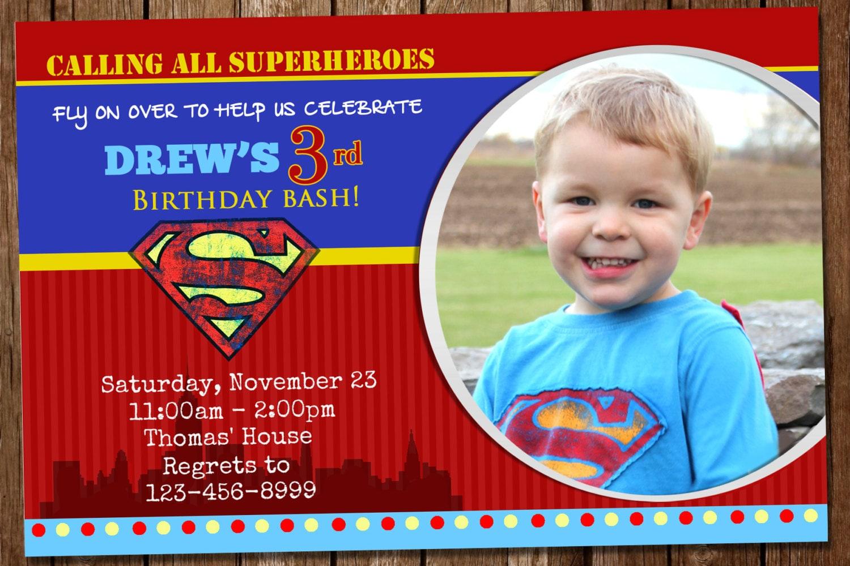 Awesome Superman Invitation – Superman Birthday Invitations