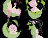 BABY SWEETPEA GIRLS - 30 Machine Embroidery Designs Instant Download 4x4 5x7 6x10 hoop (AzEB)