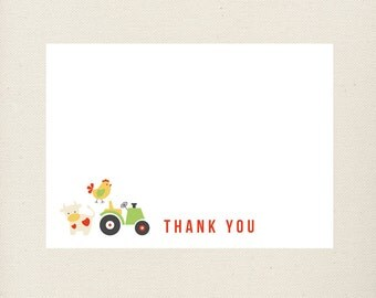 Barnyard Thank You Notes