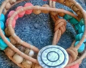 Chan Luu Inspired Wrap Beaded Gemstone Bracelet  Get 10% Off Price Now