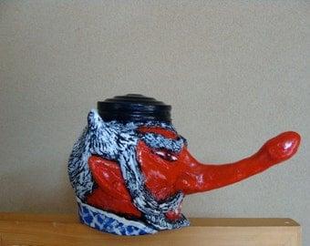 Tengu Keepsake Holder jar(functional-art sculpture)