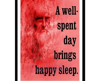 LEONARDO da VINCI Quoted Art print