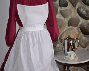 Ready to Ship Colonial Civil War Pinner White Apron Only