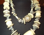 Vintage Heavy Beaded Double Hung Necklace