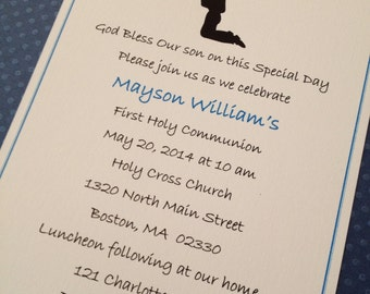 First Communion or confirmation invitation