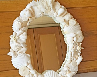 Beach Decor - Seashell Mirror