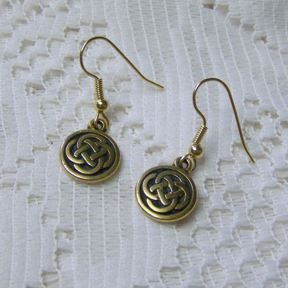 celtic knotwork earrings celtic knot earrings 22kt gold celtic jewelry 6432
