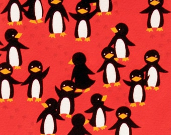 SALE - Alexander Henry - Silly Chilly Penguin in Red