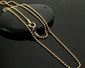 14kt Gold Filled Bead Chain - 1.5mm - Custom Length Finished or By the Foot -  Made in the USA