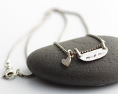 Sweetest Ever I LOVE Mom Sterling Silver Necklace