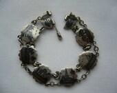 Vintage Egypt Egyptian Silver Souvenir Bracelet