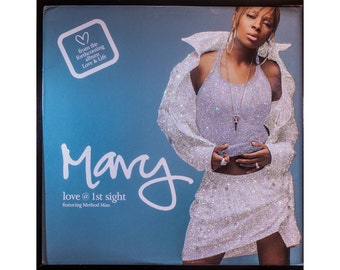 Glittered Vintage Mary J Blige Single Love at First Sight