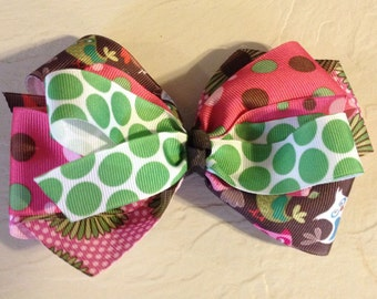 Oopsy Daisy Owls Boutique Hair Bow