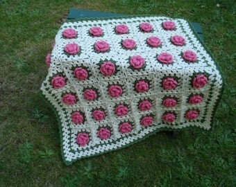 Field of Flowers Baby Blanket – PB-108 - Crochet Pattern PDF