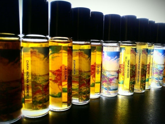 Black Magick Darkest of Dark Perfume Oil All Natural with Jasmine, Cocoa and Vintage Patchouli ONE LEFT