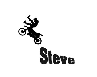 Personalized-Dirt bike-Motorcycle-Decal-Sticker-Motorcross-39 X 45 inches