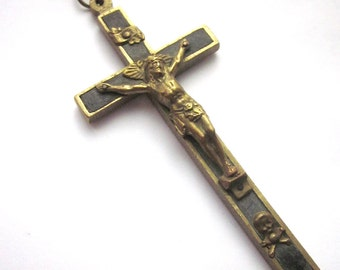 Vintage Nuns Pectoral Crucifix Vintage Priest Cross Scull Crossbones