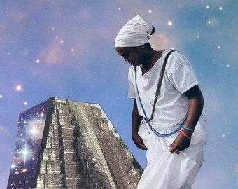 Ascending the Temple ORIGINAL Collage