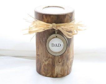 Rustic Memory Candle -Wedding Centerpiece-Cabin Decor with Personalized Charm