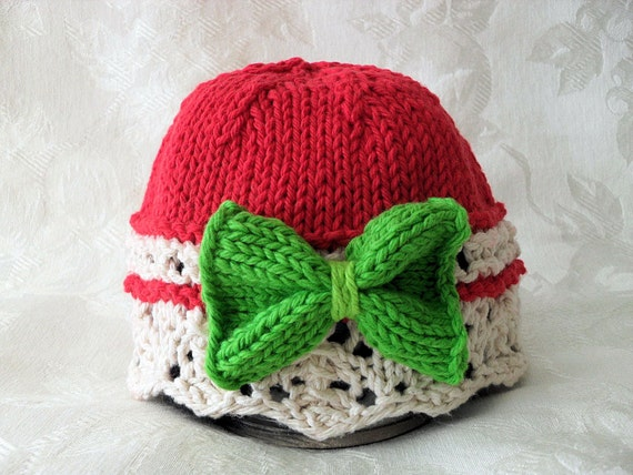 Baby Hat Pattern Knitted Hat Pattern Christmas Baby Hat Newborn Hat Pattern I...