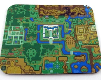SNES Mouse Pad - Zelda: A Link to the Past World Map