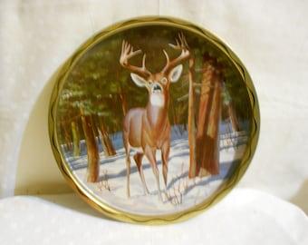 Vintage Tray Deer  by James L. Artig, Woodland Creature, Serving Tray, Decorative