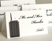 Los Angeles Place Card Handmade Custom Personalize Wedding Bridal Sign Seat Escort City Landmarks LA Hollywood
