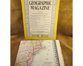 July 1946 National Geographic Magazine – Vintage Collectible Magazine & Vintage Advertising