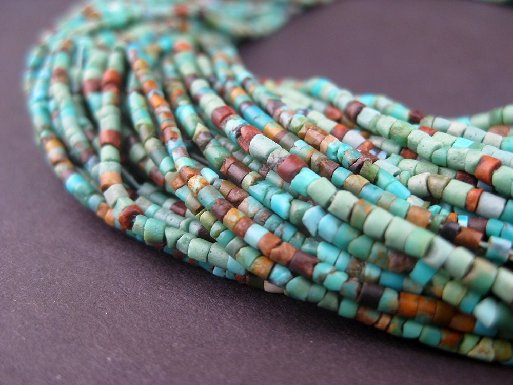185 tiny turquoise heishi beads gemstone beads for Birthstone beads for jewelry making